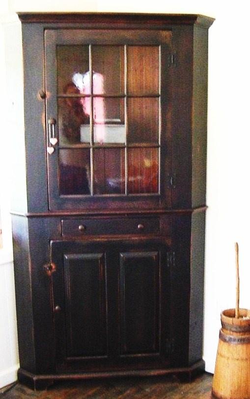 Corner Cabinet Furniture Dining Room: Primitive Corner Cabinet