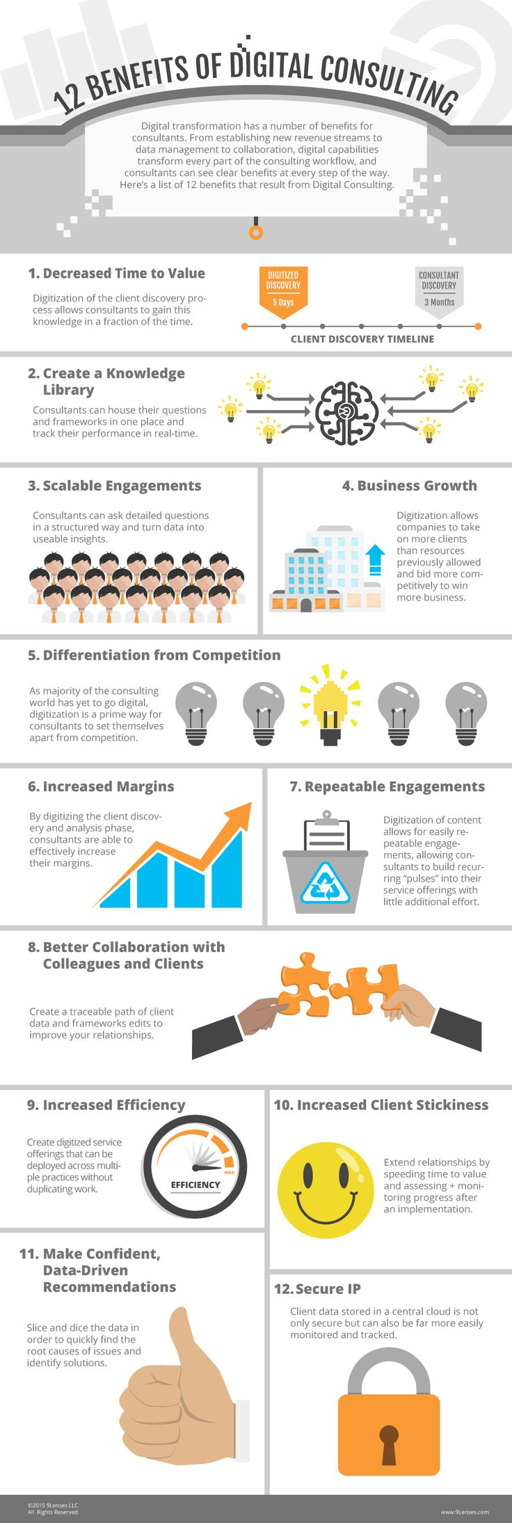 Top 12 Digital Consulting Benefits [Infographic]