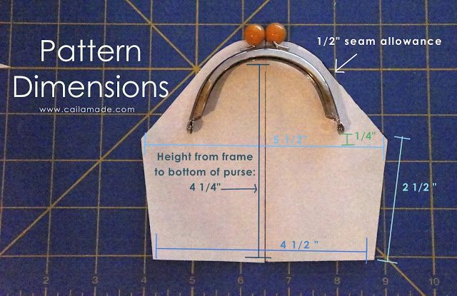 Make your own pattern for any metal purse frame