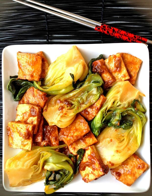 Baby Bok Choy and Tofu in Bourbon Sauce: 4 servings; 353 calories, 15 ...
