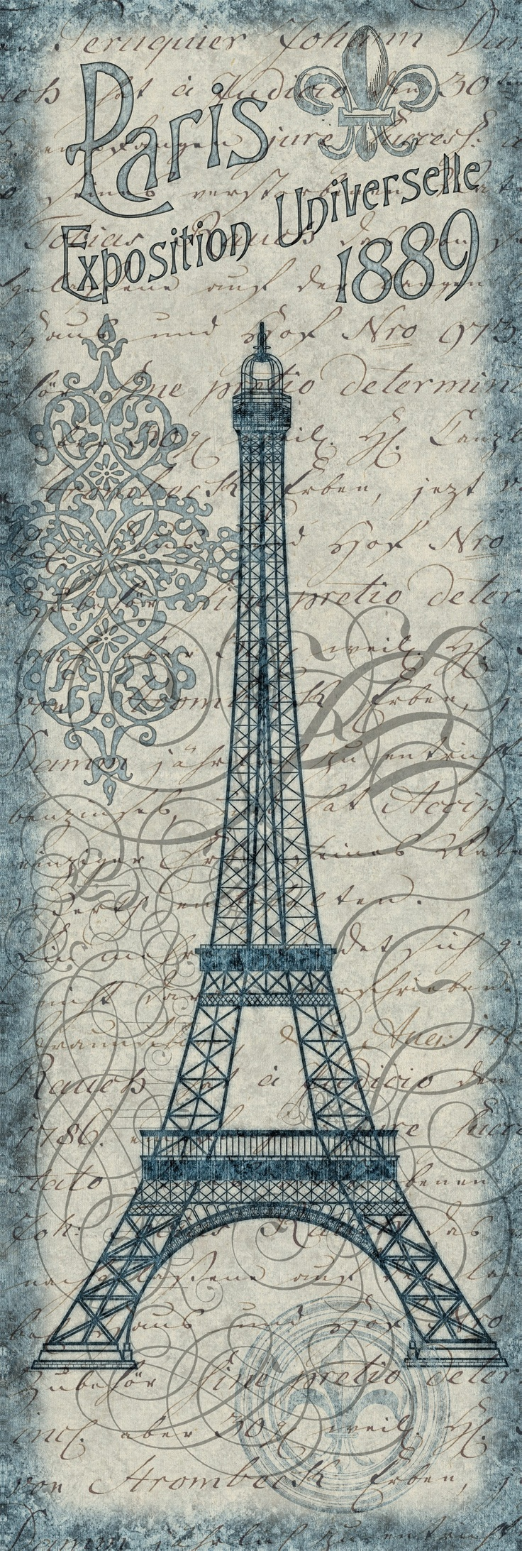 Eiffel Tower Blueprint Printable Pinterest