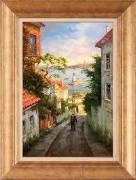 istanbulun tarihi sokak yaglıboya resimleri ile ilgili görsel sonucu
