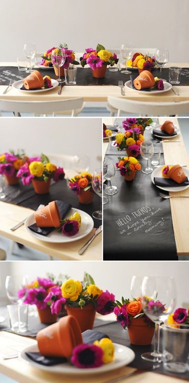 A DIY CHALKBOARD TABLE SETTING