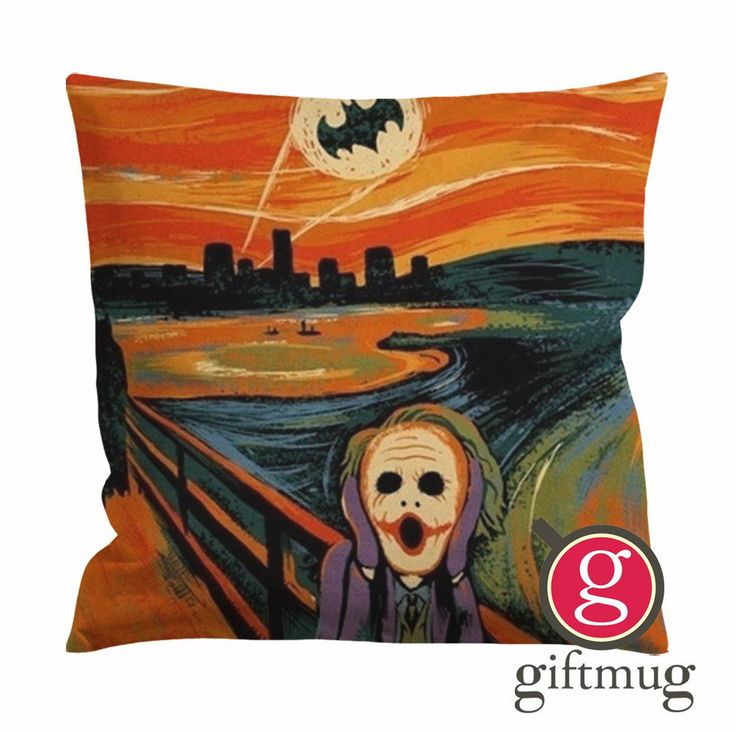 Batman Joker Starry Night Van Gogh Cushion Case / Pillow Case