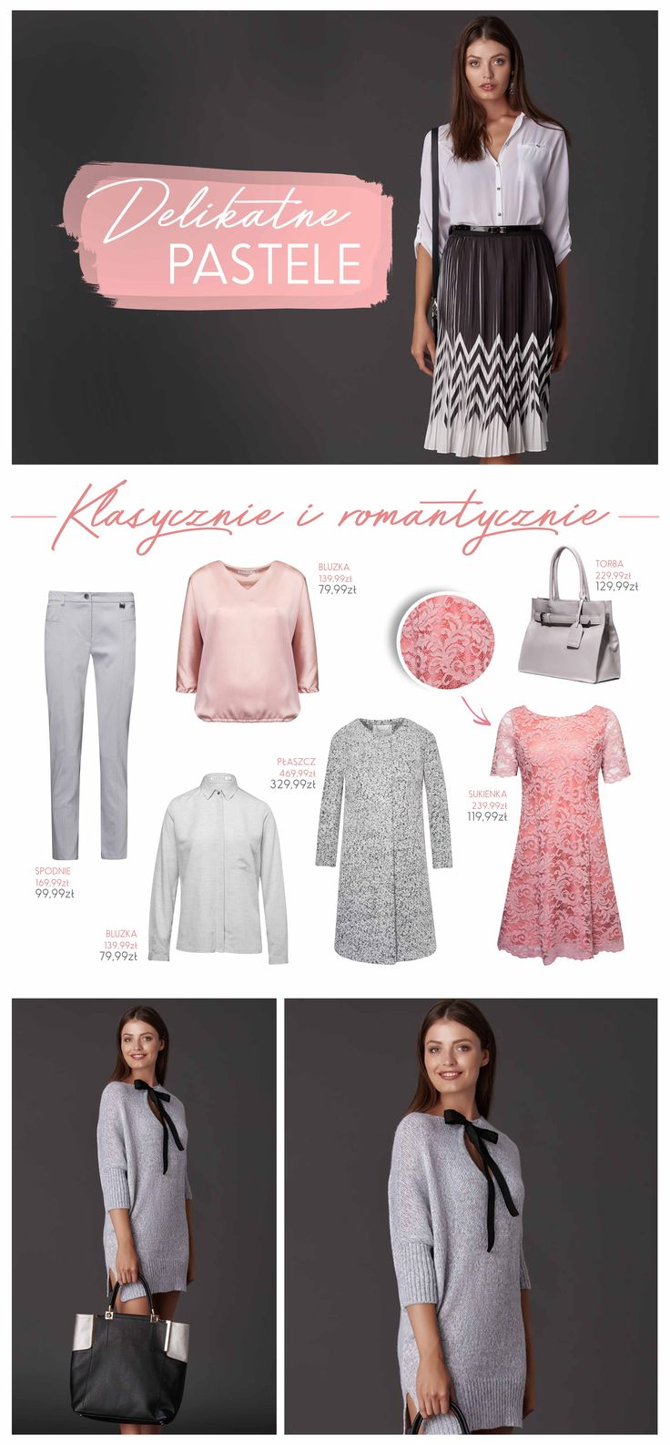 #naszainspiracja #ootd #pastele #trousers #blouse #dress #bag #woman #womanwear #fashion #polishfashion