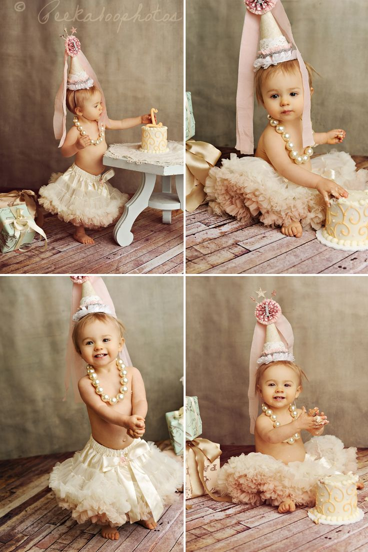 So aside from the absolutely adorable baby in the perfect petticoat skirt and pearls, how sweet are those vintage gifts tucked away in the corner?! May need to use the idea and make a boy version for Brady's bday shoot :)