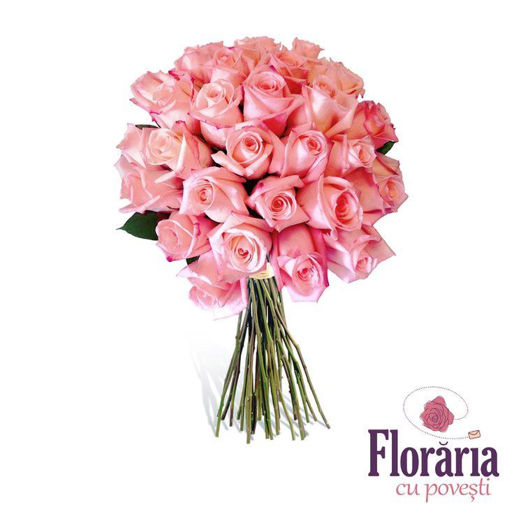 buchet 33 trandafiri roz