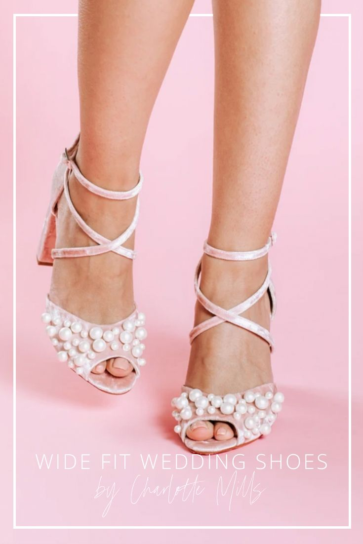 Wide Fit in 2020 | Pink wedding shoes