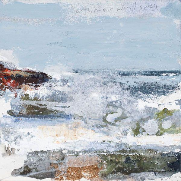 Kurt Jackson: Porthmeor wind swell 2013 Campden Gallery, fine art, Chipping Campden, camden gallery, contemporary, contemporary arts, contem...