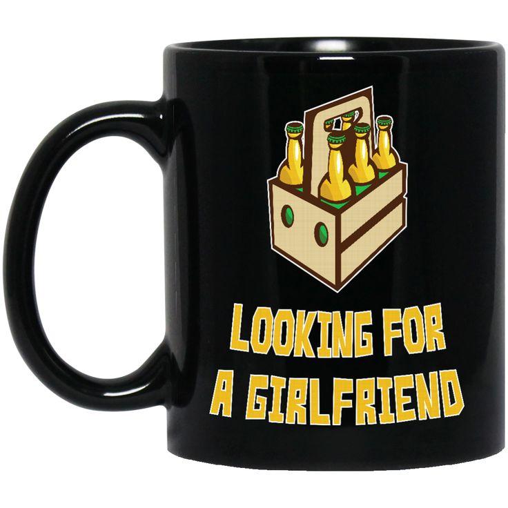 6 PACKS LOOKING FOR A GIRLFRIEND BM11OZ 11 oz. Black Mug
