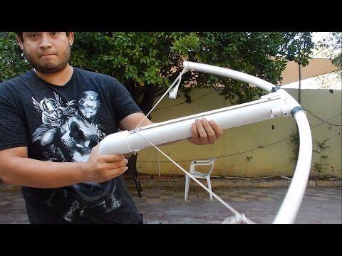 Ballesta de PVC casera, barata y muy potente - YouTube