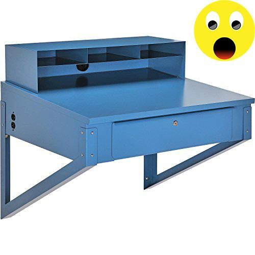"#greatdeal Our best selling #shop desk is perfect for warehouses and shipping & receiving areas. Rugged steel-channel-reinforced work surface measures 34-1/2""W x..."