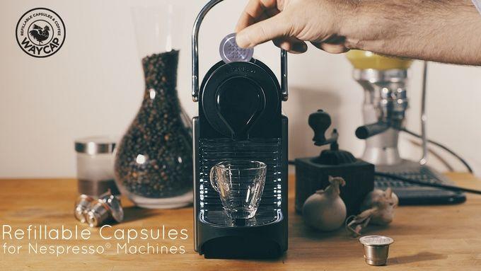 Dit Nespresso cupje kun je vullen met gemalen koffie