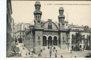 Unknown Postcard - Alger, La Cathedrale et le Palais d'Hiver du Gouverneur, 8, animee