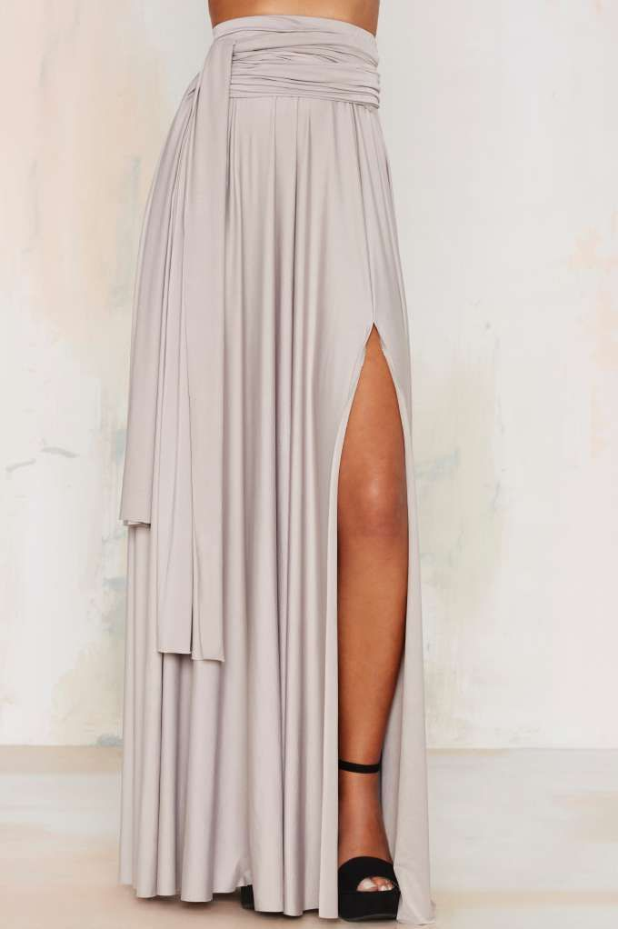 Wildfire Maxi Skirt - Gray - Clothes