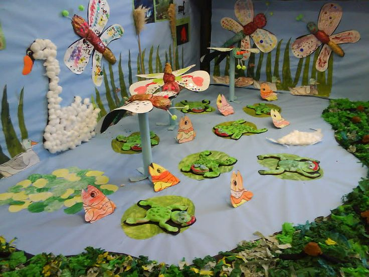 Pond life from lindsay bulletin board pinterest pond for Pond decoration ideas