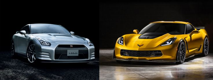 Round seven: 2015 Corvette Z06 vs. 2015 Nissan. GT-R  C7 Corvette is all new & brings the Stingray name back to the model. The newest Z06 is the most powerful Corvette (most powerful GM-anything) ever made. Its 6.2-litre V8 makes 650 horsepower thanks to a supercharger & triple pedal, 7 speed manual transmission. GT-R is turbos & traction control & is much faster to 100 km/h but in the end, it's not as much fun as the Corvette. Cost: Nissan $108,500 | Corvette $82,657 (US).