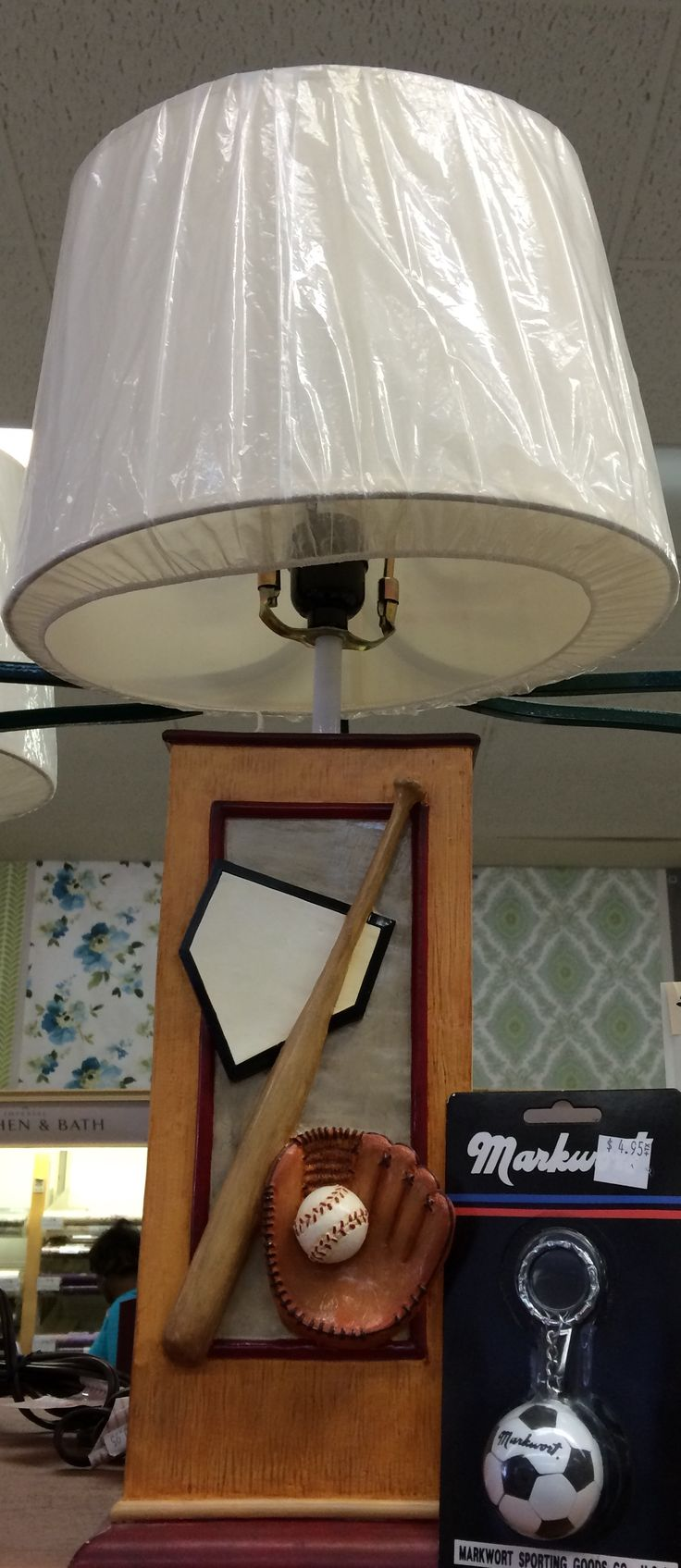 Holiday gift idea:  Sports themed lamp.  http://lelandswallpaper.com/store/Sports%20Related/Baseball/Accessories/Item:Show:Baseball%20Lamp##giftideas #baseball