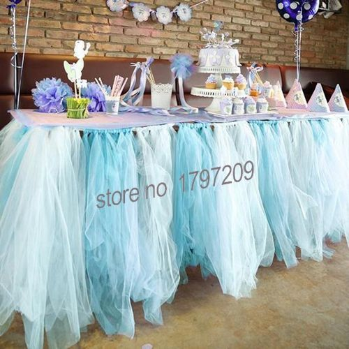 1 pcs 22mX15cm Crystal Tulle Organza Sheer Gauze Element Wedding Decoration Table Runner Party wedding decor baby shower favor