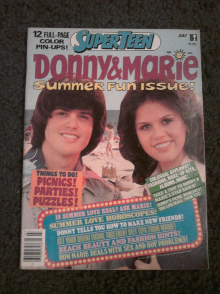 Super Teen Donny & Marie Summer Fun Issue Magazine July 1977