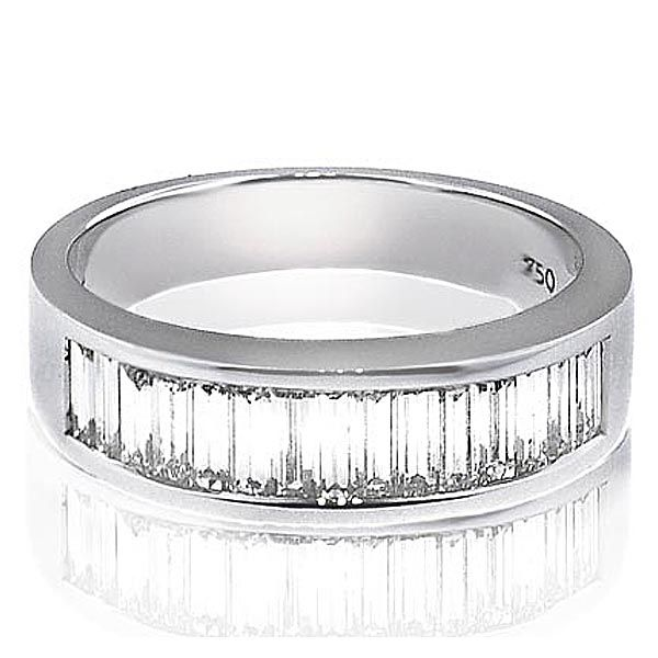 Men39s wedding bands with baguette diamonds district for Mens wedding rings baguette diamonds