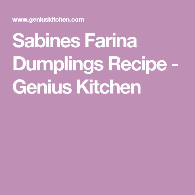 Sabines Farina Dumplings Recipe - Genius Kitchen