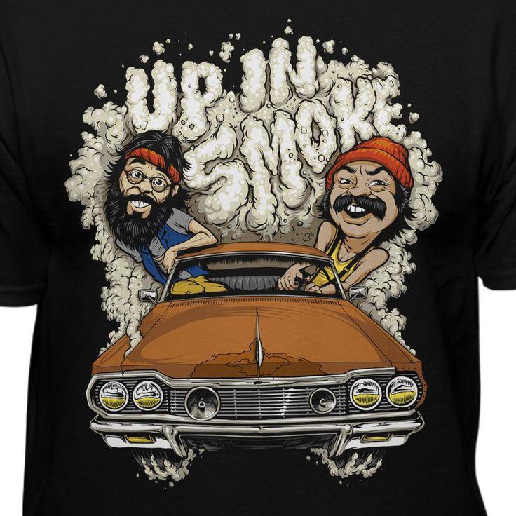 Cheech & Chongs Up In Smoke Car Smoke 420 Movie T-shirt
