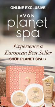 Avon online exclusive Planet Spa - Escape, relax & indulge easy steps to the perfect spa treatment. Shop Avon Planet Spa online with me at www.youravon.com/my1724 Spend $50 get free shipping and 20% off use coupon code: WELCOME #AVON #AVONPLANETSPA #PLANETSPA #BUYAVONONLINE