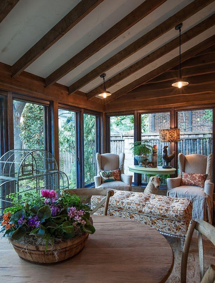 Cozy Sunroom I Love These Windows Big Panes Of