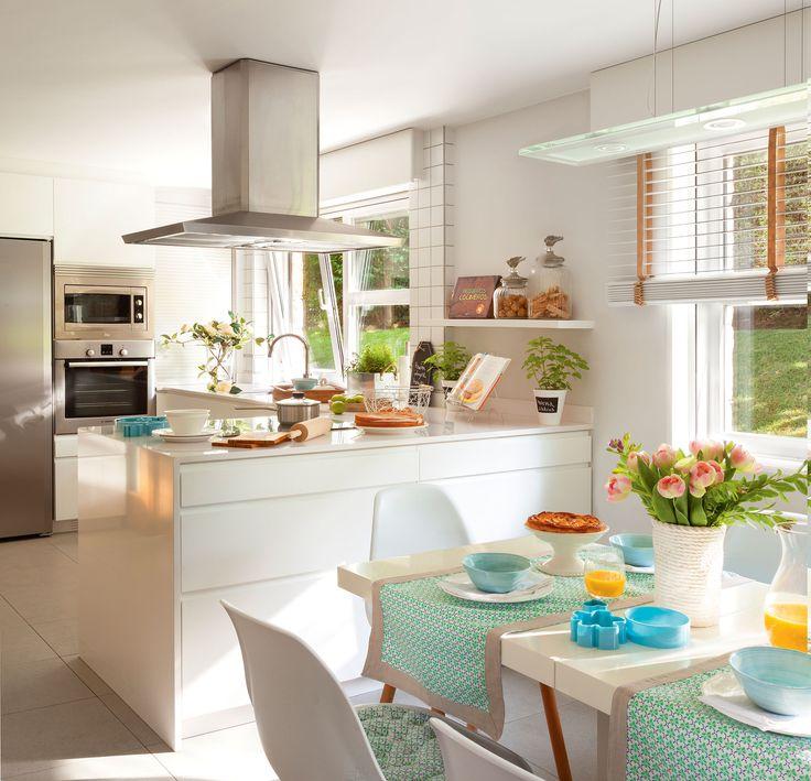 Cocinas en blanco: una apuesta atemporal y muy luminosa