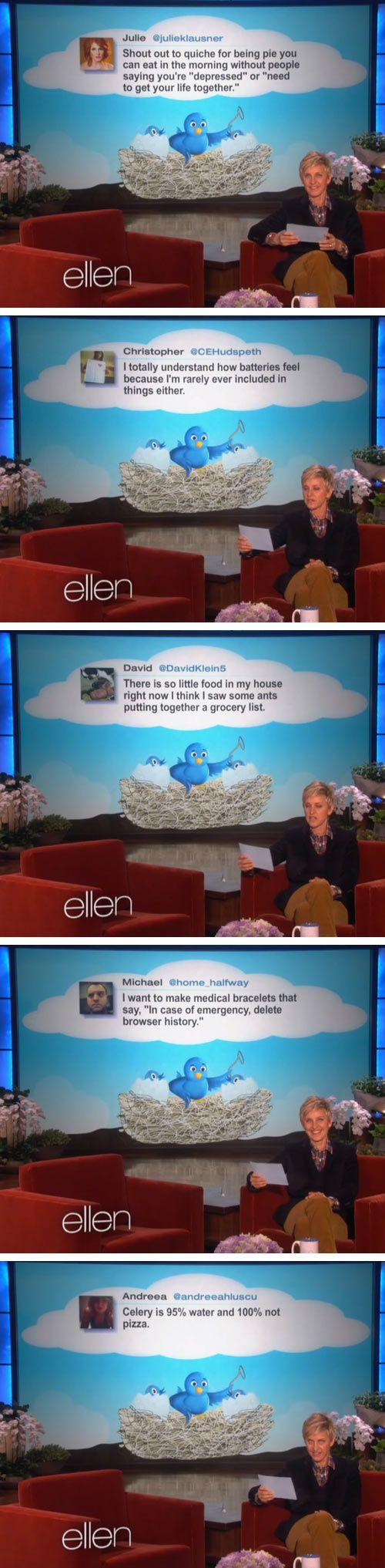 Ellen's favorite tweets of the week…the last one!