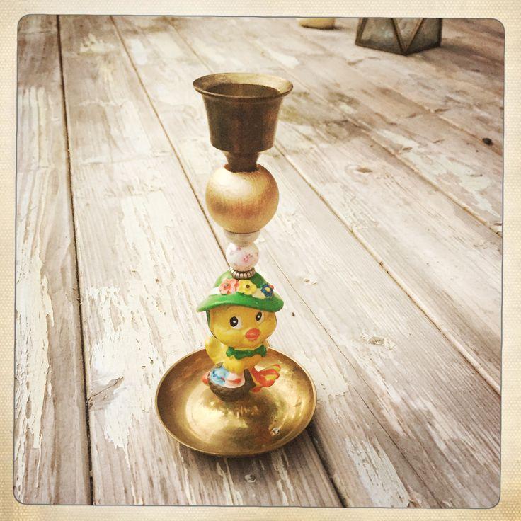 Candleholder for easter twiip-twiip 🐥🍀 #bird #vintage #doityourself #diy #candles