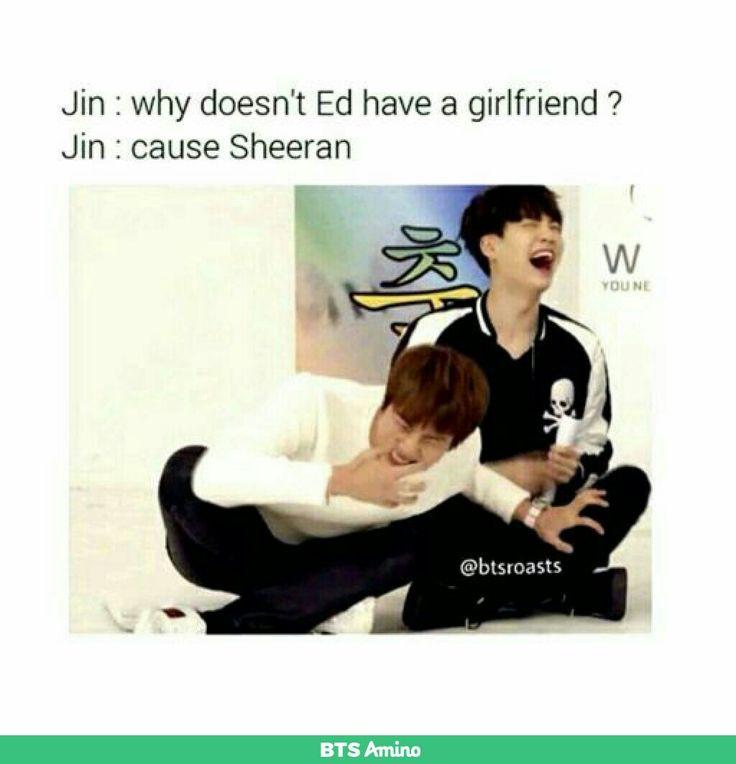 haha jin is so funny lol