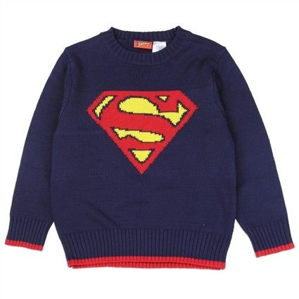Sizes 2T 3T 4T Made From 55% Cotton 45%Acrylic Label DC Comics Superman Officially Licensed By DC Comics Superman Apparel  Free Shipping