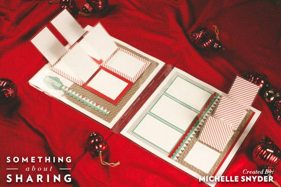 More holiday memory keeping with CTMH Flip Flaps. Make the most of your holiday scrapbooking with these space saving tips. #holidayscrapbooking #SomethingAboutSharing