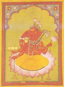 ガネーシャ、知識と知恵のヒンズー教の神