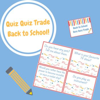 Quiz Quiz Trade is a fun and engaging cooperative group work activity! Simply print cards back to back with each following page. Cut out and laminate the cards if desired. Distribute one card to each student. Students then find a partner in the classroom to quiz using the question on their