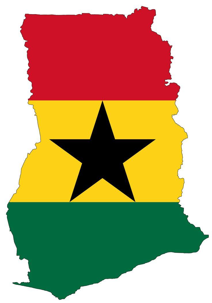 Ghana Flag Map - Mapsof.net