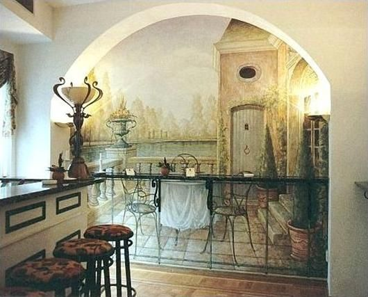 Original drawings on the walls of apartments