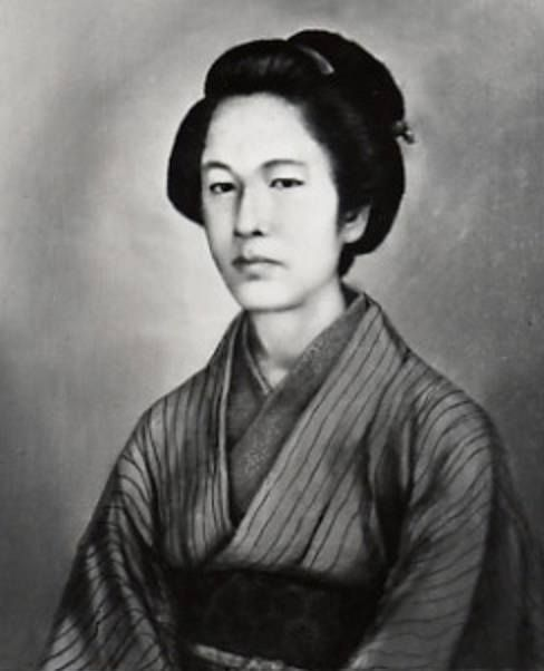 "Last of the real-life female samurai"": Nakano Takeko (中野 竹子, 1847-1868) ~ a female warrior (女武芸者, onna-bugeisha, ""one who practiced the art of war""), who fought and died during the Boshin War. She was trained in the martial, literary, calligraphy and other arts and worked with her adoptive father as a martial arts instructor during the 1860s. During the Battle of Aizu (part of the Boshin War) in autumn 1868"