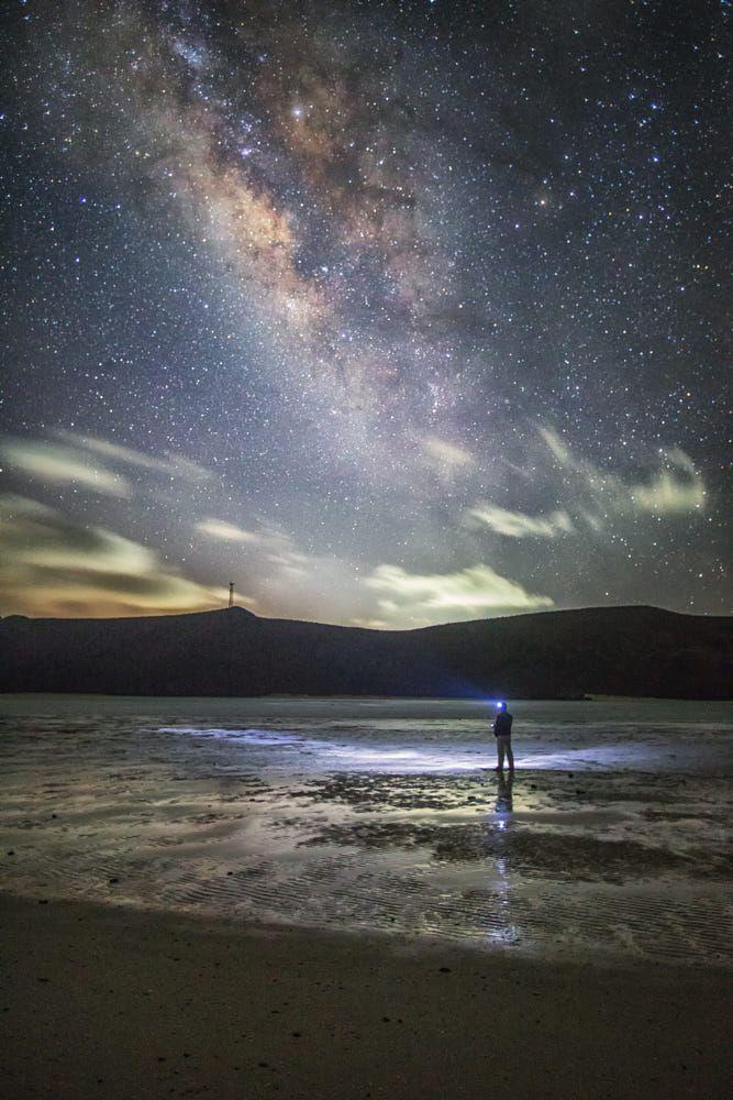 Man under Milky Way | Milky way galaxy, Milky way, Landscape