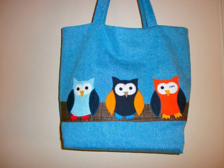 Handmade owl bag.
