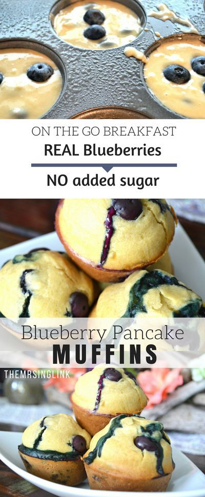 Blueberry Pancake Breakfast Muffins On The Go | Breakfast Recipes | Quick and easy breakfast recipes | Muffin Recipes | Blueberry Recipes | Make Ahead Recipes | On the go recipes | theMRSingLink
