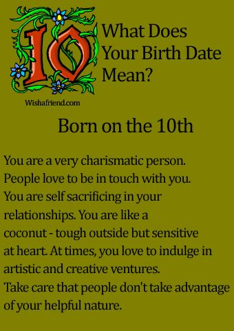 What Does Your Birth Date Mean?- Born on the 10th This is SO me :)