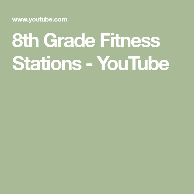 8th Grade Fitness Stations - YouTube