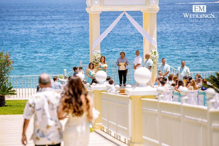 Wedding Ceremony at Hotel Riu Palace, Los Cabos. #emweddingsphotography #destinationweddings