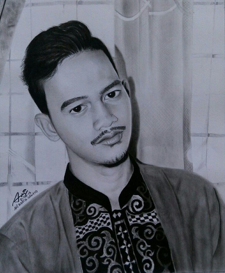 Man, hansom, pomade, drawing portrait, pencill on paper 25x35, by ari berta galung