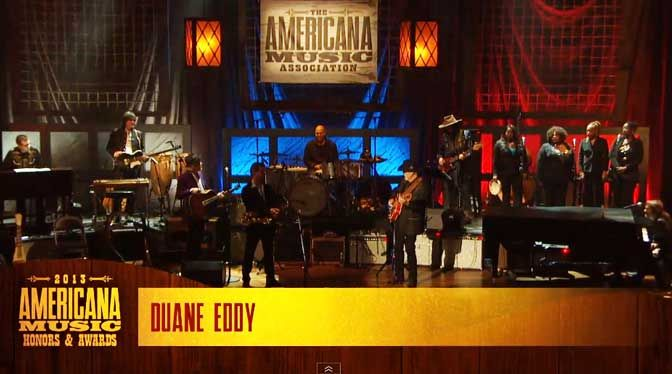 The unmistakable sound of Duane Eddy at the 2013 Americana Music Awards