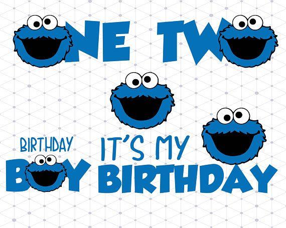 Cookie Monster Birthday Svg Png Dxf Cookie Monster Svg Dxf Png Cookie Monster Clipart Sesame Stree Cookie Monster Party Cookie Monster Birthday Monster Cookies
