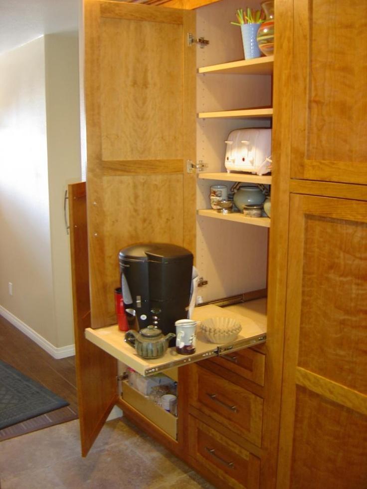 52 best appliance garage images on pinterest appliance for Garage kitchen ideas